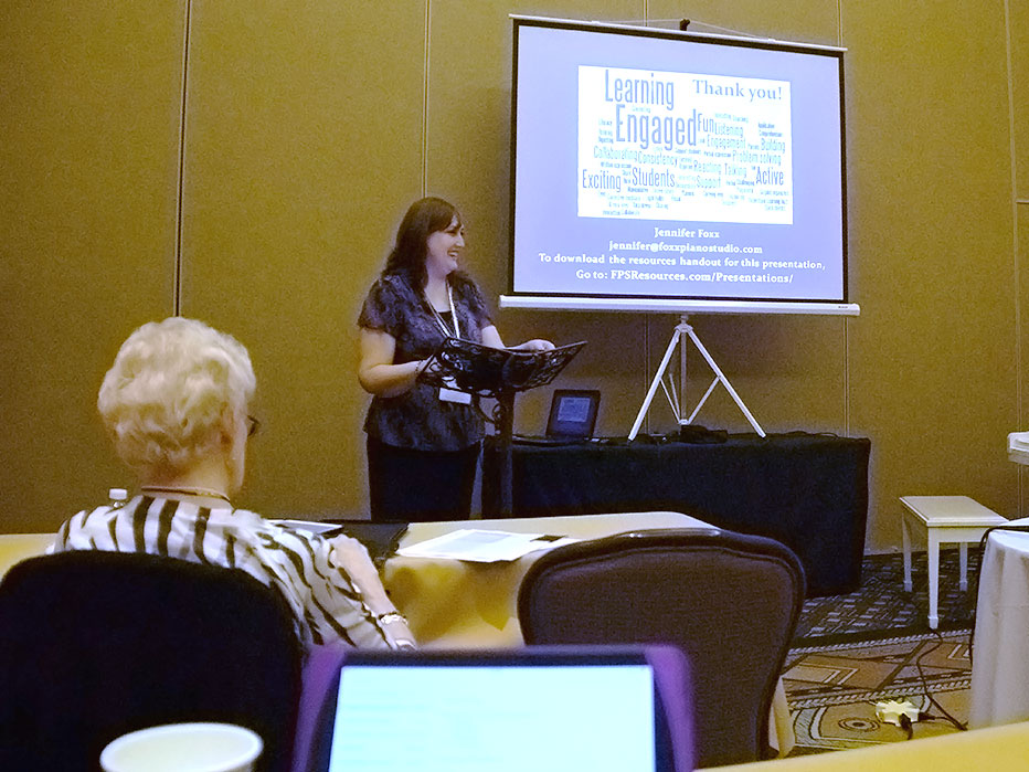 Jennifer Foxx presenting at ASMTA Conference